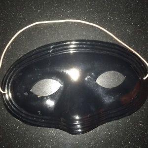 Black Plastic Masquerade Eye Mask